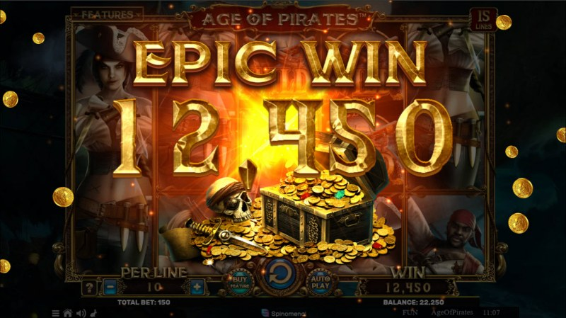 Age of Pirates 15 Lines :: Epic Win