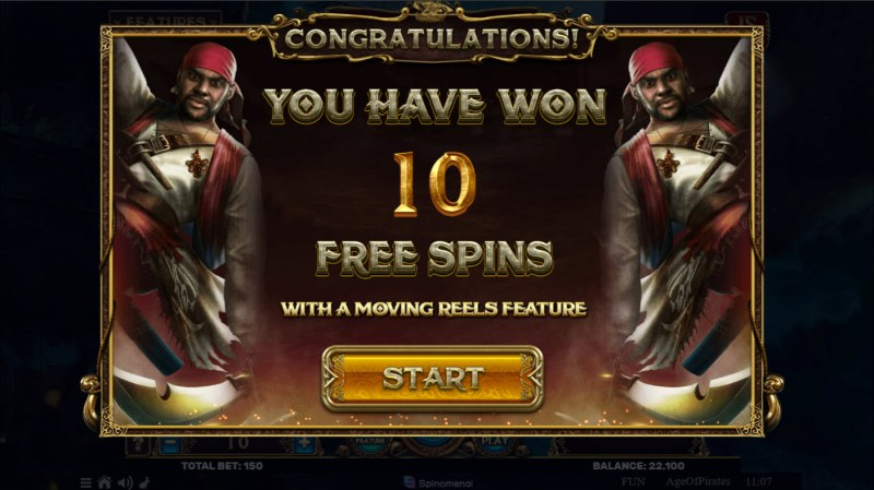 Age of Pirates 15 Lines :: 10 free spins awarded