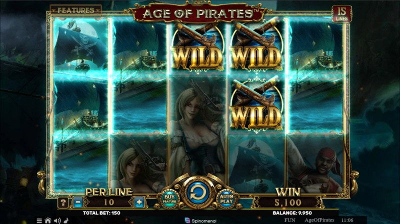 Age of Pirates 15 Lines :: Multiple winning paylines
