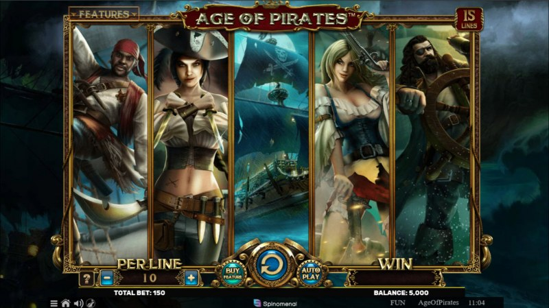 Age of Pirates 15 Lines :: Base Game Screen