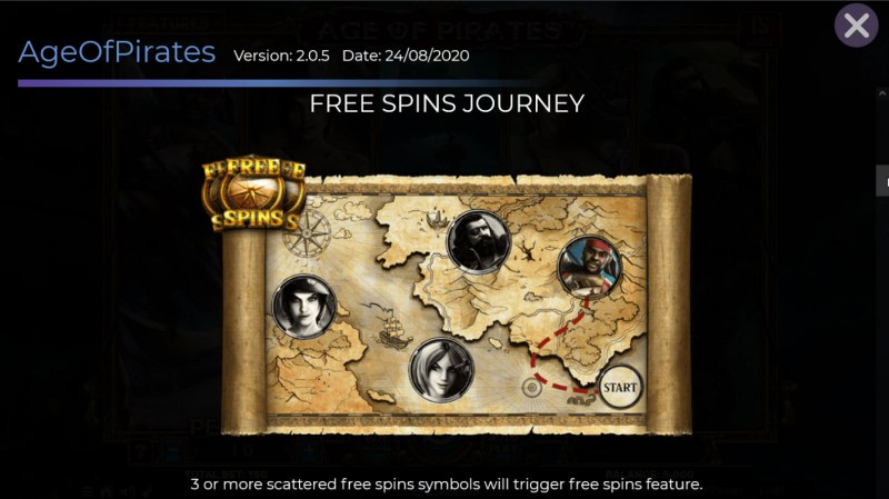 Age of Pirates 15 Lines :: Free Spin Feature Rules