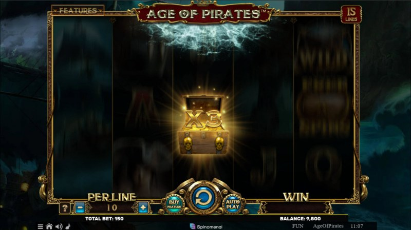 Age of Pirates 15 Lines :: X3 Win Multiplier