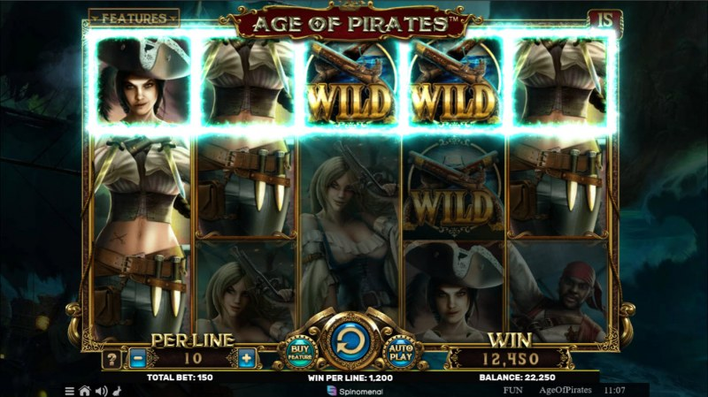 Age of Pirates 15 Lines :: Multiple winning combinations lead to a big win