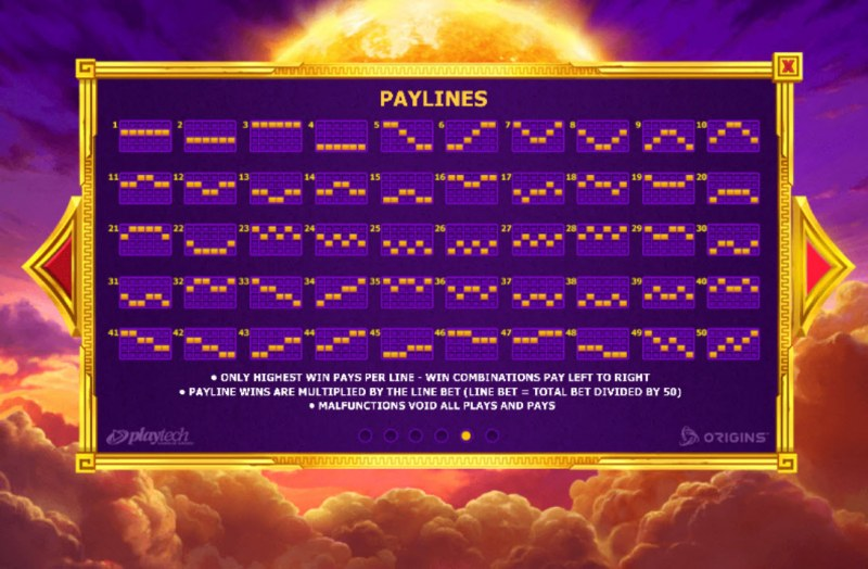 Age of the Gods Apollo Power :: Paylines 1-50