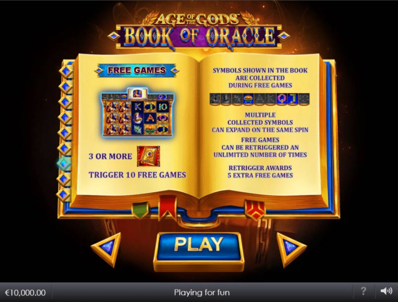 Age of the Gods Book of Oracle :: Free Game Rules