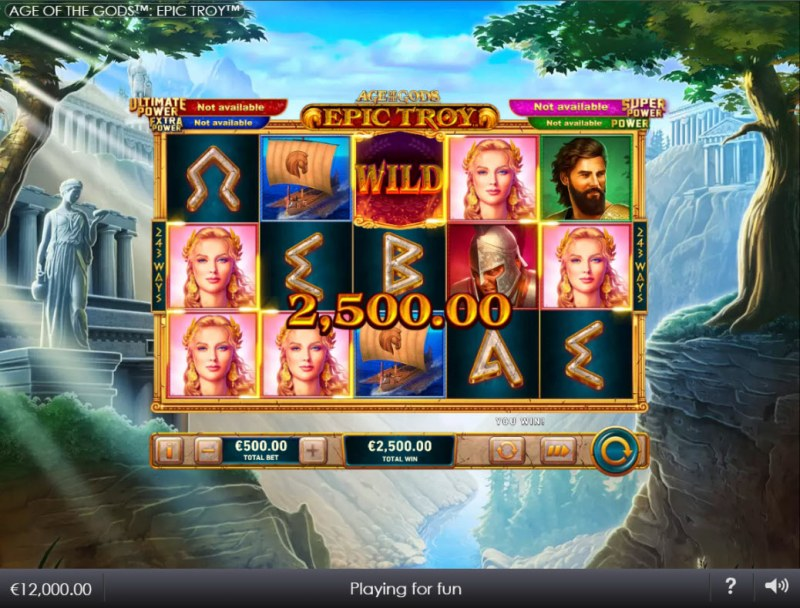 Age of the Gods Epic Troy :: A five of a kind win