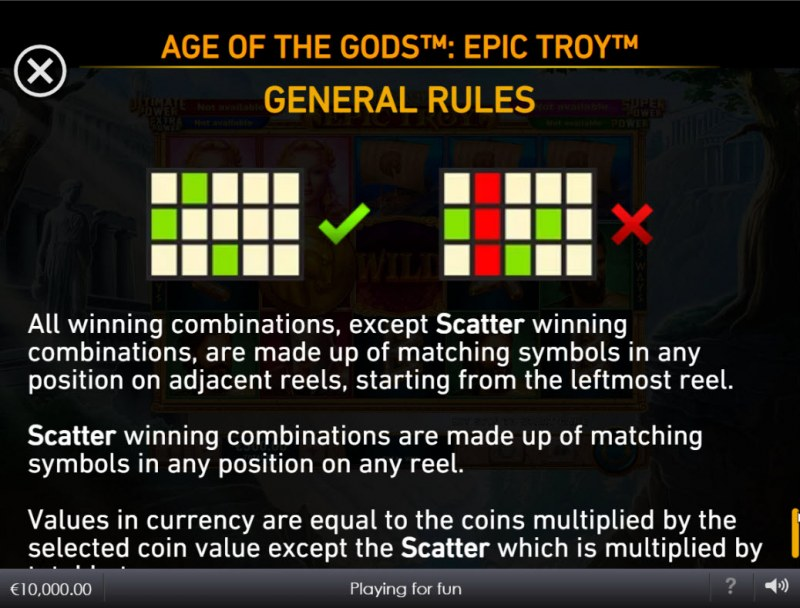 Age of the Gods Epic Troy :: General Game Rules
