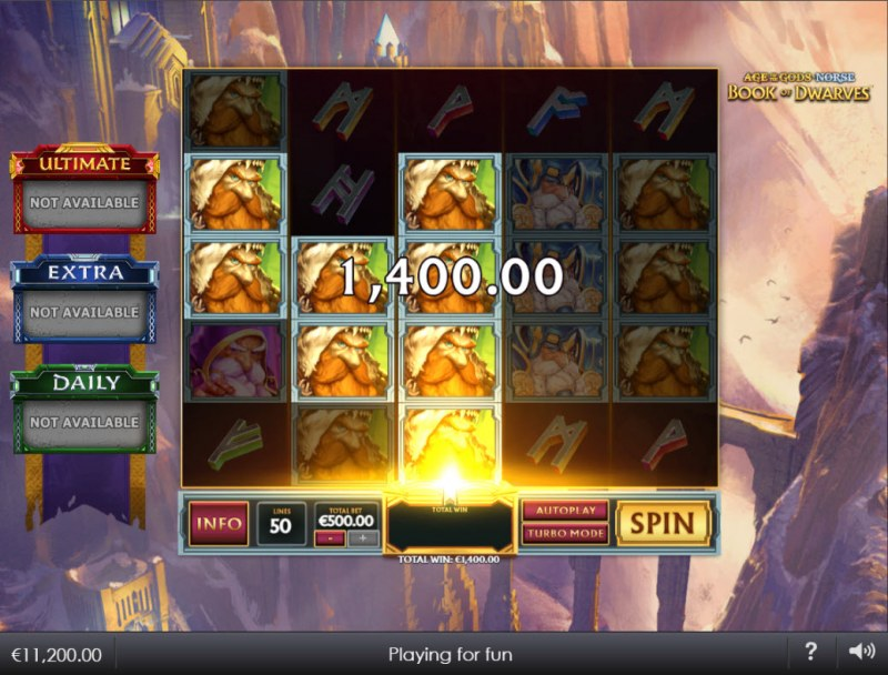 Age of the Gods Norse Book of Dwarves :: Multiple winning paylines