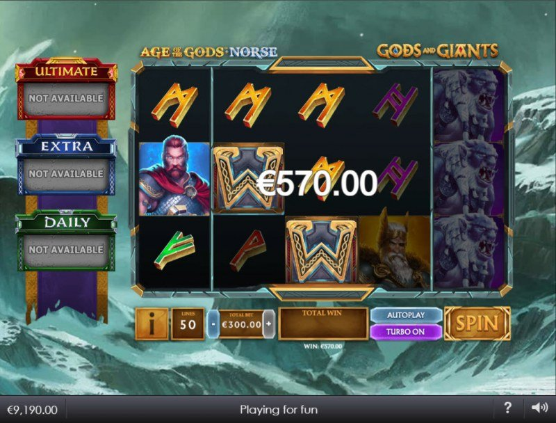 Age of the Gods Norse Gods and Giants :: Multiple winning paylines