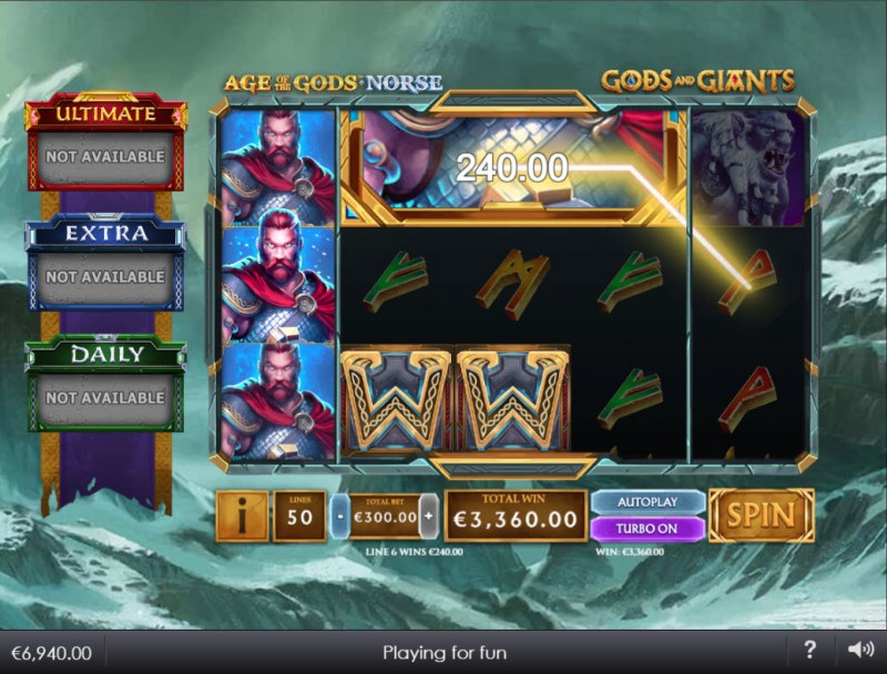Age of the Gods Norse Gods and Giants :: Multiple winning combinations lead to a big win