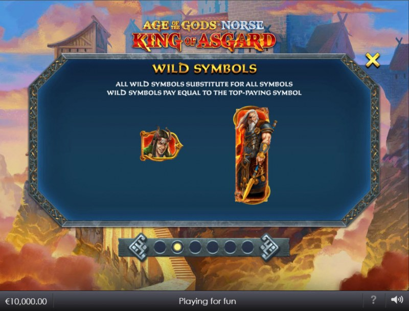 Age of the Gods Norse King of Asgard :: Wild Symbol Rules