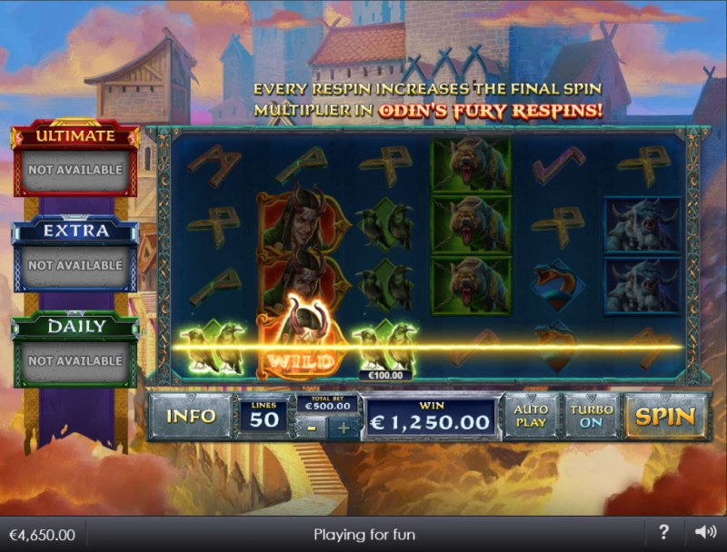 Age of the Gods Norse King of Asgard :: A three of a kind win