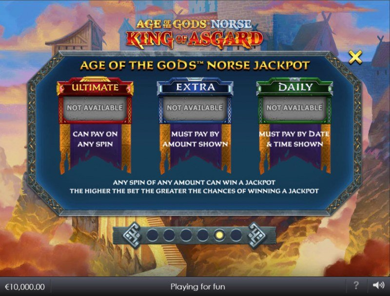 Age of the Gods Norse King of Asgard :: Jackpot Rules
