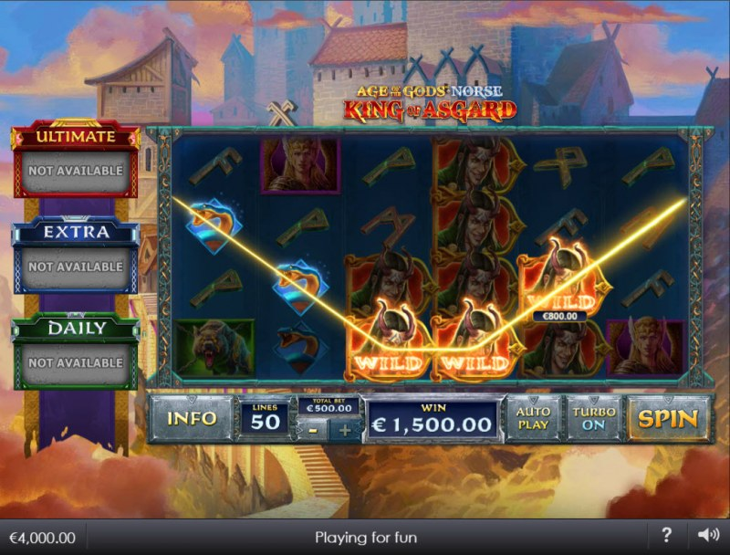 Age of the Gods Norse King of Asgard :: A five of a kind win
