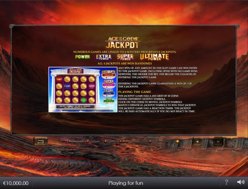 Age of the Gods Ruler of the Dead :: Jackpot Rules
