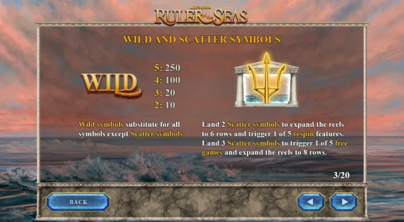 Age of the Gods Ruler of the Seas :: Wild and Scatter Rules