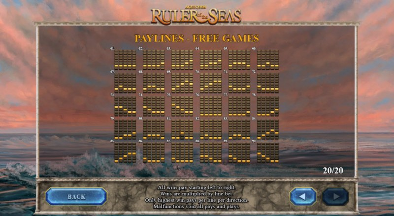 Age of the Gods Ruler of the Seas :: Paylines - Free Games