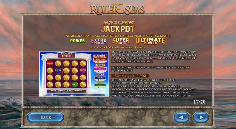 Age of the Gods Ruler of the Seas :: Jackpot Rules