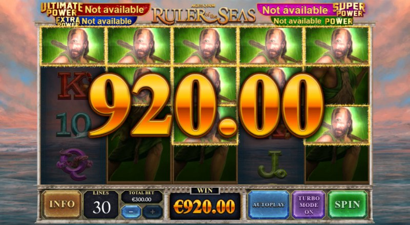Age of the Gods Ruler of the Seas :: Multiple winning paylines