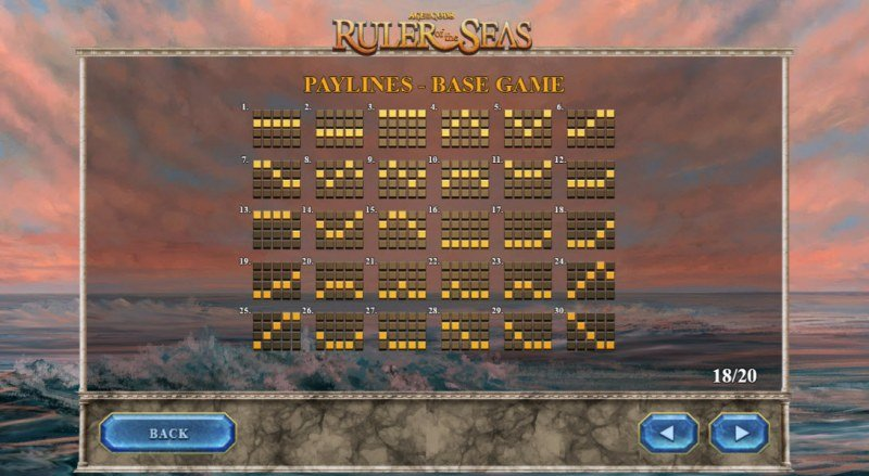 Age of the Gods Ruler of the Seas :: Paylines 1-30
