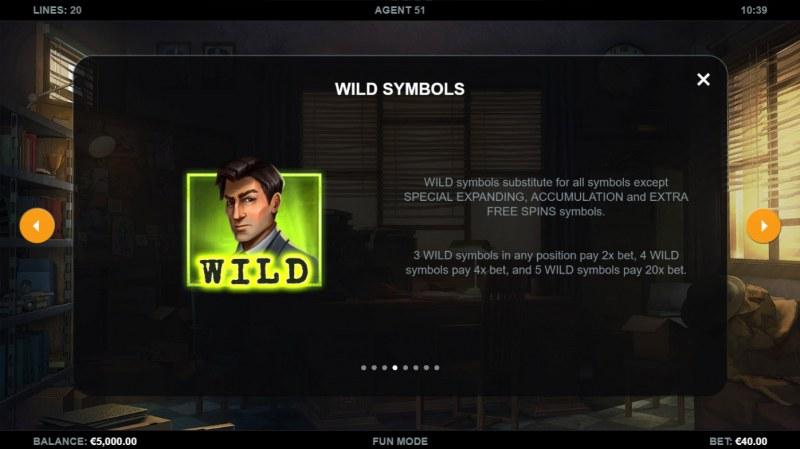 Agent 51 :: Wild Symbol Rules