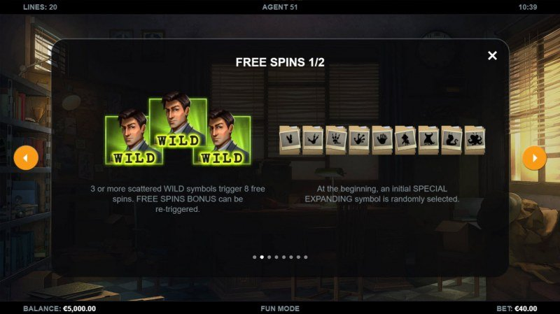 Agent 51 :: Free Spin Feature Rules