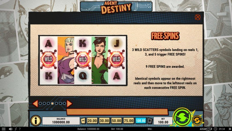 Agent Destiny :: Free Spins Rules