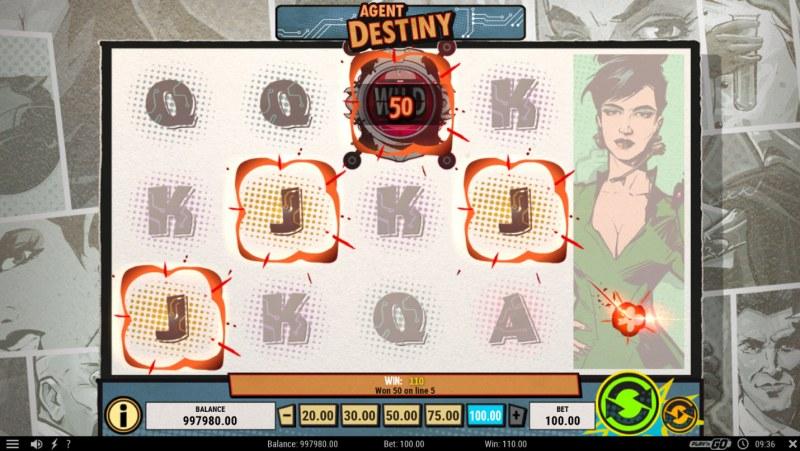 Agent Destiny :: Four of a kind Win