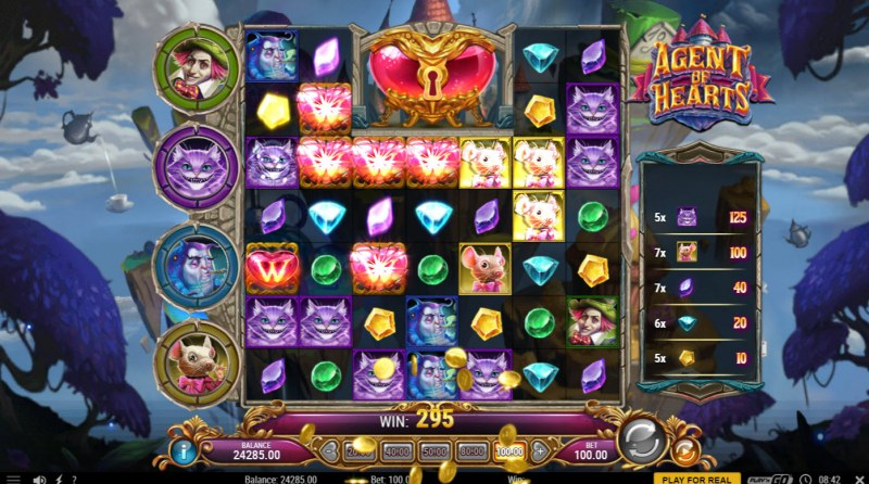 Agent of Hearts :: Winning symbols are removed from the reels and new symbols drop in place
