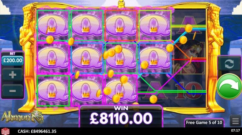 Ahmun Ra :: Multiple winning combinations