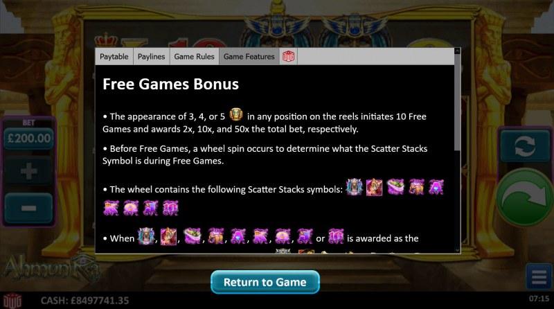 Ahmun Ra :: Free Game Rules