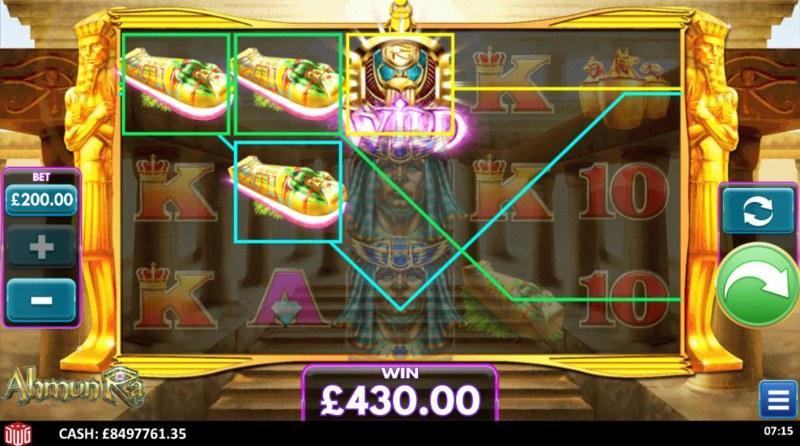 Ahmun Ra :: A three of a kind win