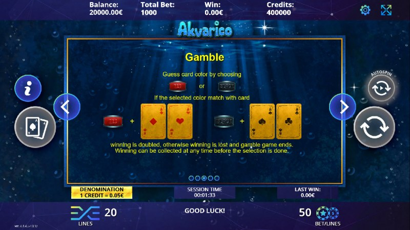 Akvarico :: Gamble Feature Rules