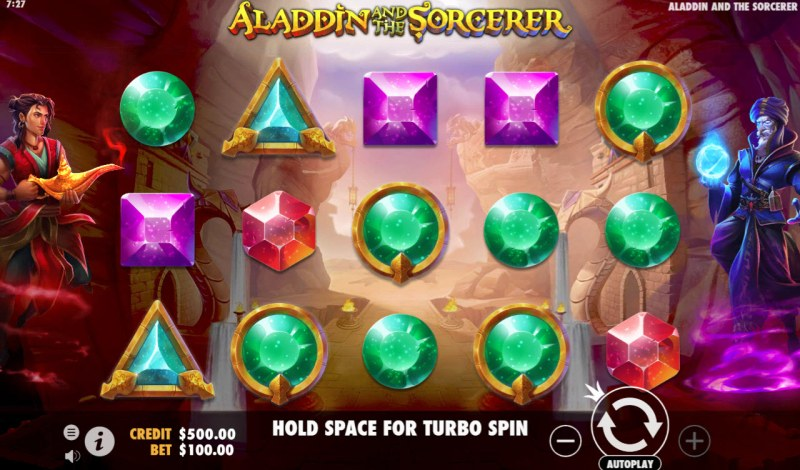 Play slots at Spiral: Spiral featuring the Video Slots Aladdin and the Sorcerer with a maximum payout of $100,000