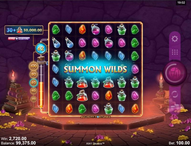 Alchemy Fortunes :: Summon Wilds triggered