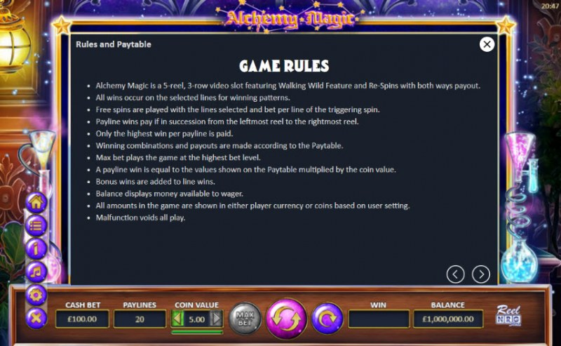 Alchemy Magic :: General Game Rules