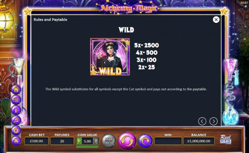 Alchemy Magic :: Wild Symbols Rules