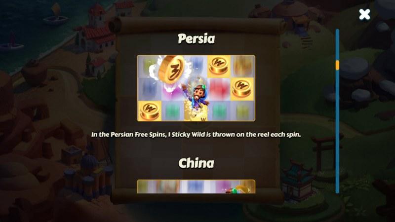 Aldo's Journey :: Persia Feature Rules