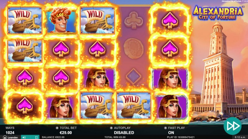 Alexandria City of Fortune :: Wild feature leads to multiple winning paylines