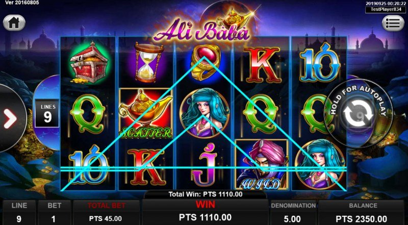 Ali Baba :: Multiple winning combinations leads to a big win