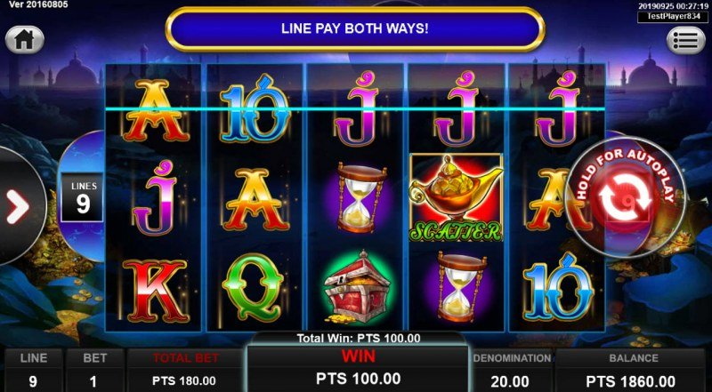 Ali Baba :: Game pays in both directions