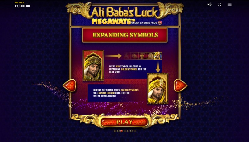 Ali Baba's Luck Megaways :: Expanding Symbol Feature