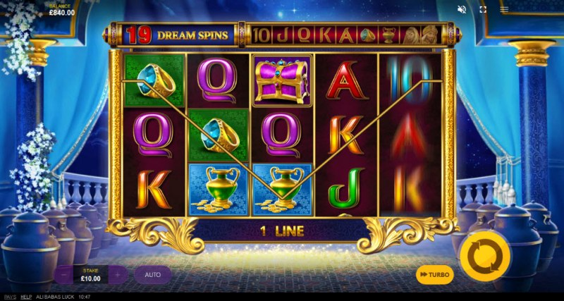 Ali Baba's Luck :: Free Spins Game Board