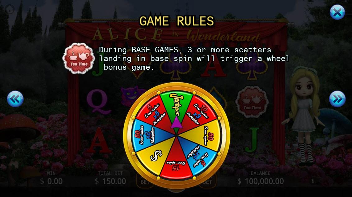Alice in Wonderland :: Bonus Game Rules