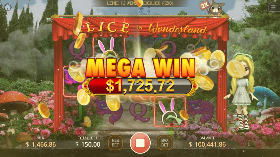 Alice in Wonderland :: Mega Win