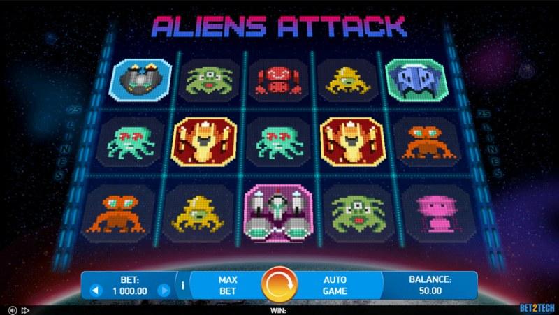 Alien Attack :: Main Game Board