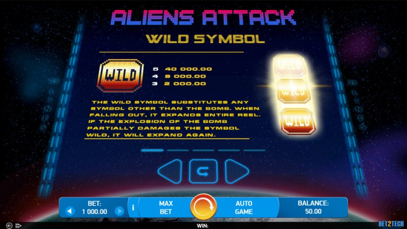 Alien Attack :: Wild Symbol Rules