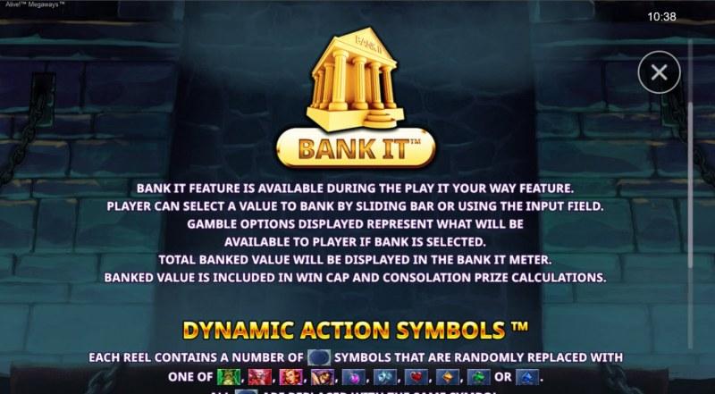 Alive! Megaways :: Bank It