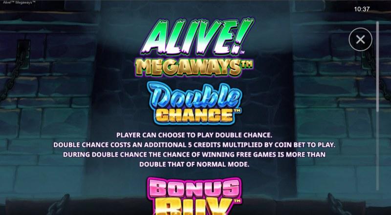 Alive! Megaways :: Double Chance