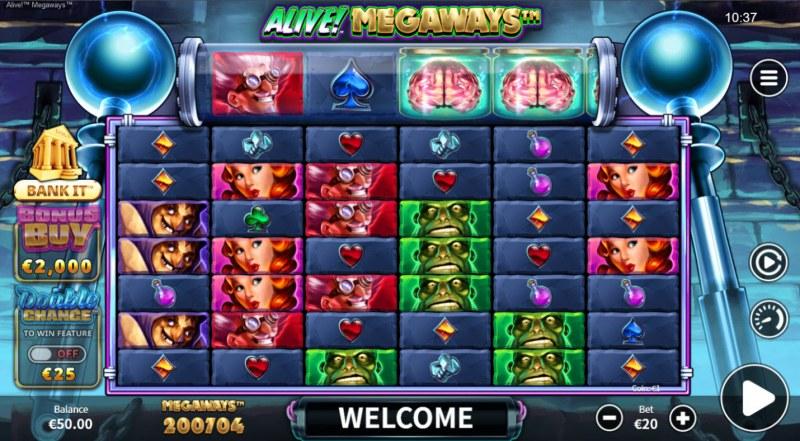 Alive! Megaways :: Base Game Screen